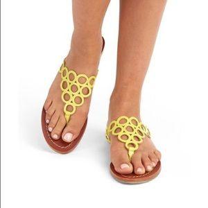 Boden Yellow Circle Flip Flop Sandals Size 9